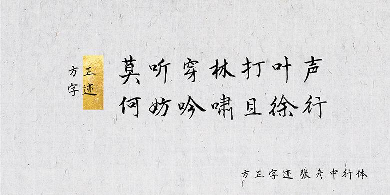方正字迹-张彦中行体