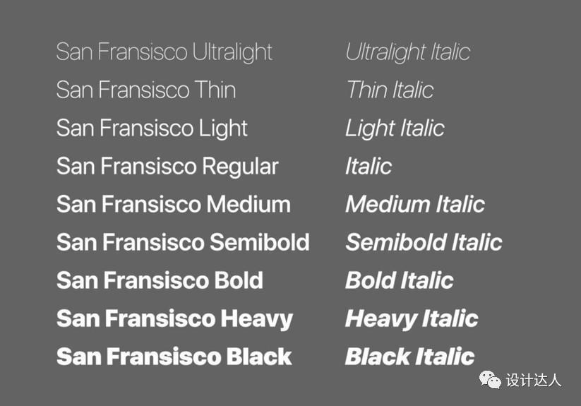 APP设计必备字体:San Francisco Pro、苹方、思源黑体和Roboto字体打包下载了