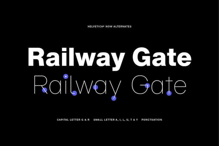 拉丁最经典的字体 Helvetica 进化版Helvetica Now