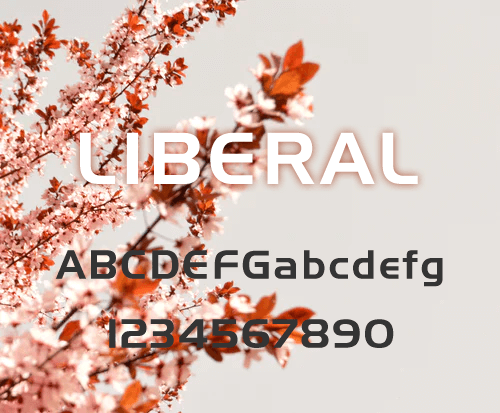 Liberal.ttf是一款好看的英文字体