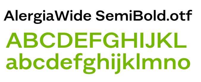 英文字体AlergiaWide-SemiBold.otf