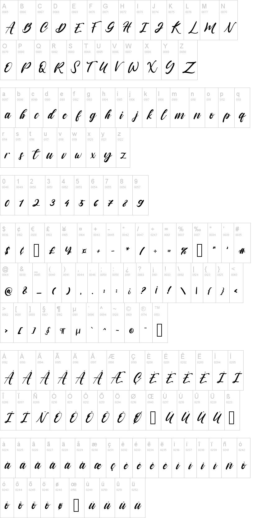 书法英文字体Vagnotie
