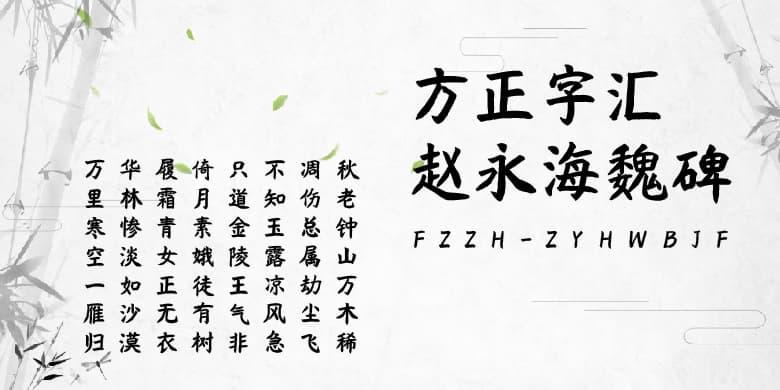 方正字汇-赵永海魏碑