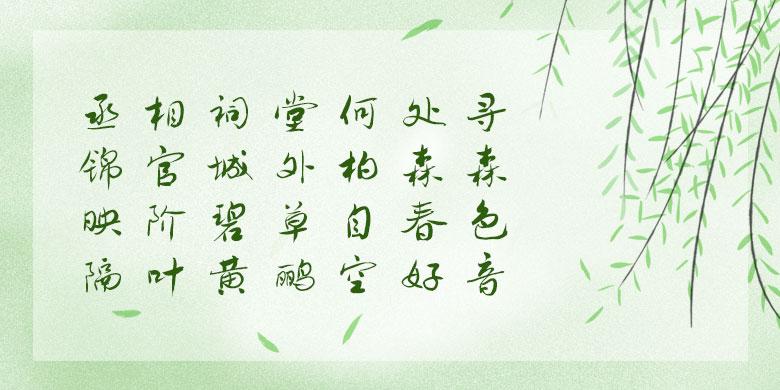 方正字迹-贺飞行草
