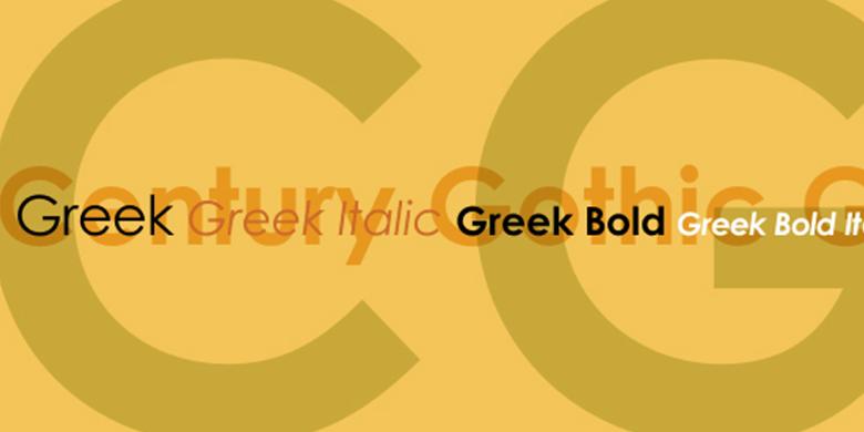 Century-Gothic™-Greek