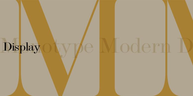 Monotype™-Modern-Display™